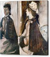 Mrs Jeantaud In The Mirror  Canvas Print