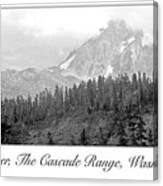 Mt. Baker, Cascade Range, Late Afternoon Canvas Print