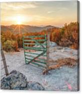 Mushroom Rock Phenomenon At Sunset Canvas Print