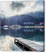 Nature Around Lake Lure Chimney Rock And Broad River North Carol Canvas Print