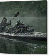 Navy Seals Navigate The Waters Canvas Print