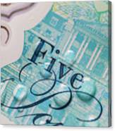 New Uk Five Pound Note Canvas Print