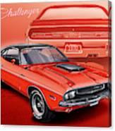 Dodge Challenger 1970 R/t Canvas Print