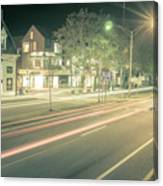 Newport Rhode Island City Streets In The Evening Canvas Print