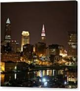 Nightlife In Cleveland Canvas Print