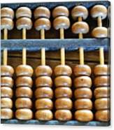 Old Chinese Abacus Canvas Print