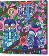 3 Owls Canvas Print