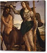 Pallas And The Centaur Canvas Print