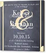 Personalized Wedding Invitation Canvas Print