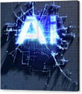 Pixel Artificial Intelligence Canvas Print