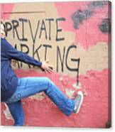 Private Parking. Canvas Print