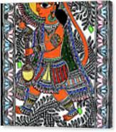 Radha Krishna Color Canvas Print