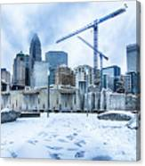 Rare Winter Weather In Charlotte North Carolina Canvas Print