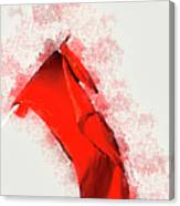 Red Flag On Black Background Canvas Print