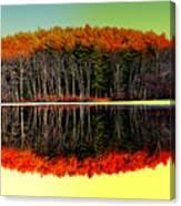 Reflections At Farrington Lake Canvas Print