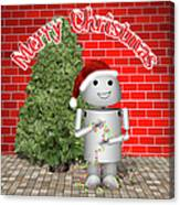 Robo-x9 Wishes A Merry Christmas Canvas Print