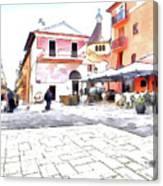 San Felice Circeo Square Canvas Print