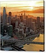 San Francisco Financial District Skyline Canvas Print
