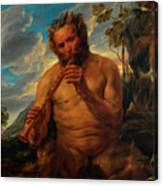 Satyr Playing The Pipe Canvas Print