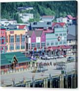 Scenery Around Alaskan Town Of Ketchikan Canvas Print