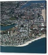 Seagate And Brighton Beach In Brooklyn Aerial Photo Canvas Print