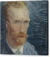 Self-portrait Paris July   August 1887 Vincent Van Gogh 1853  1890 Canvas Print