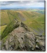 Sharpe Edge On Blencathra Fell, Lake District National Park Canvas Print