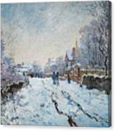 Snow Scene At Argenteuil Canvas Print