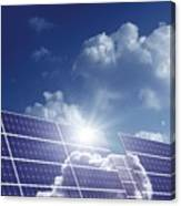 Solar Panels In The Sun Canvas Print