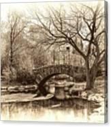 South Bridge - Central Park Canvas Print
