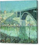 Spring Night Harlem River Canvas Print