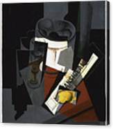 Still Life With Newspaper  Canvas Print