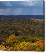 Storm Clouds Over Fall Nature Scenery Canvas Print