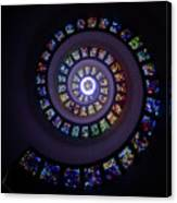 Spiral Stained Glass Canvas Print