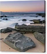 Sunrise And The Sea Canvas Print