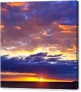 Sunset In Aguadillia Puerto Rico  Canvas Print