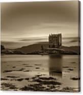 Sunset Over Castle Stalker,  Scotland, United Kingdom Canvas Print