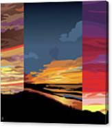 3 Sunsets Canvas Print