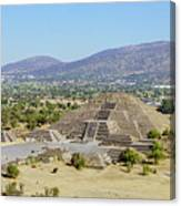 The Famous Pyramid Of The Moon Canvas Print