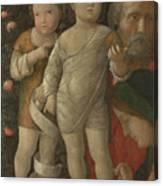 The Holy Family With Saint John Canvas Print