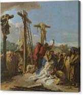 The Lamentation At The Foot Of The Cross Canvas Print