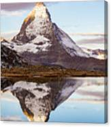 The Matterhorn Mountain In Switzerland Canvas Print