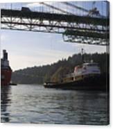 The New Tacoma Narrows Bridge - Crowley Tug Canvas Print