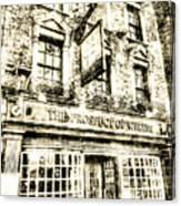 The Prospect Of Whitby Pub London Vintage Canvas Print