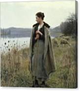 The Shepherdess Of Rolleboise Canvas Print