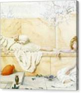 Two Classical Figures Reclining Henry Ryland Canvas Print