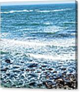Usa California Pacific Ocean Coast Shoreline Canvas Print