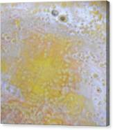 3. V2 Yellow And White Bubble Glaze Painting Canvas Print
