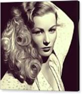 Veronica Lake, Vintage Actress Canvas Print