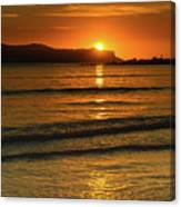 Vibrant Orange Sunrise Seascape Canvas Print